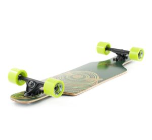 longboard-Mindless Raven II Green Black Graphic Angle