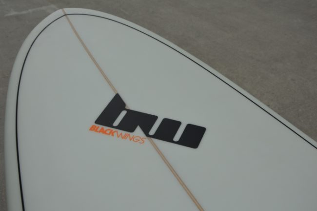 surf-funboard-plage-bw-